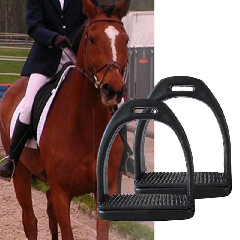 2PCS / Set Durable Non-slip Stirrup Child Adult With Wear-resistant Rubber Pad Stirrup Portable Equestrian Safety Equipment
