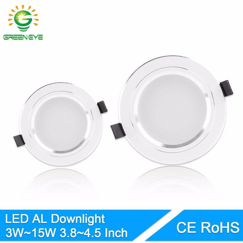 GreenEye AC85 ~ 265V Haute puissance LED Downlights Plafonnier SMD5730 5W 10W 15W 110V 220V LED Lampe LED Down Spot Light Bright