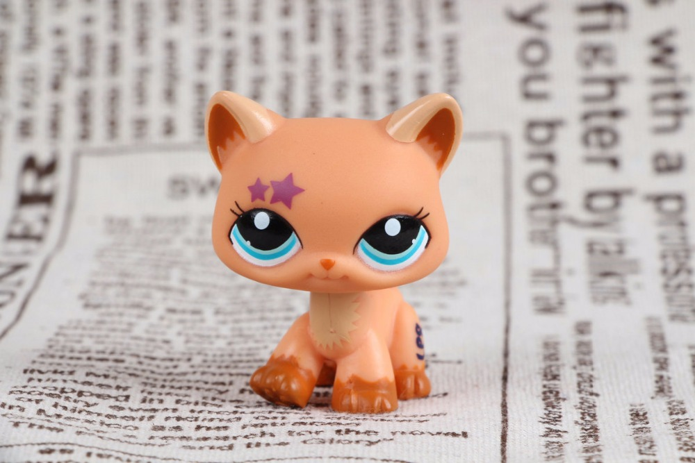 New pet Genuine Original LPS #2258 Purple Star Walking Kitty Cat Rare Collection figure Toys lps pet shop toys rare black little cat blue eyes animal models patrulla canina action figures kids toys gift cat free shipping