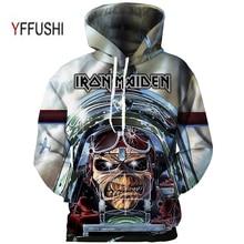YFFUSHI Plus Size 5XL Male Clothing Fashion Iron Maiden Band series 3d Printing Hoodies Men 3d  Print Streetwear Sweatshirts Men