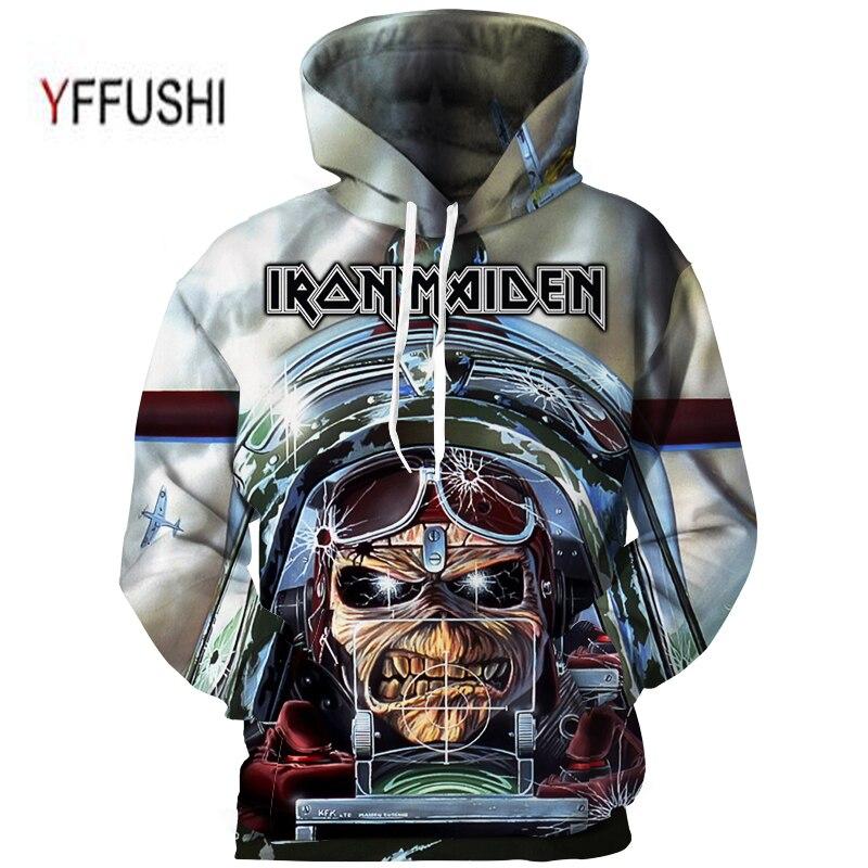 YFFUSHI Plus Taille 5XL Mâle Vêtements Mode Iron Maiden Bande série 3d Impression Hoodies Hommes 3d Impression Streetwear Shirts Hommes