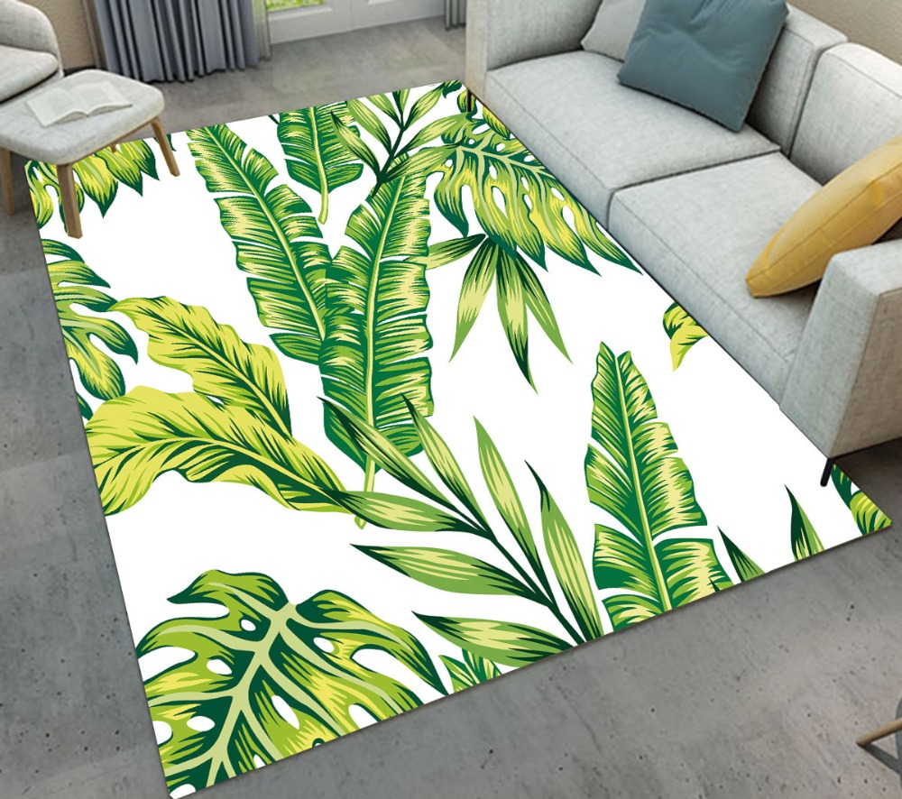 Tropical Green Monstera Banana Leaves