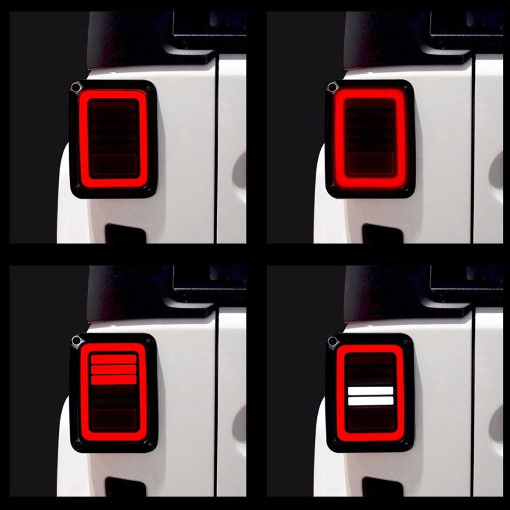 Hjyueng 6 edición pulgadas señal led luz trasera para Jeep Wrangler cola luz de freno de giro Luz de marcha atrás para jeep wrangl