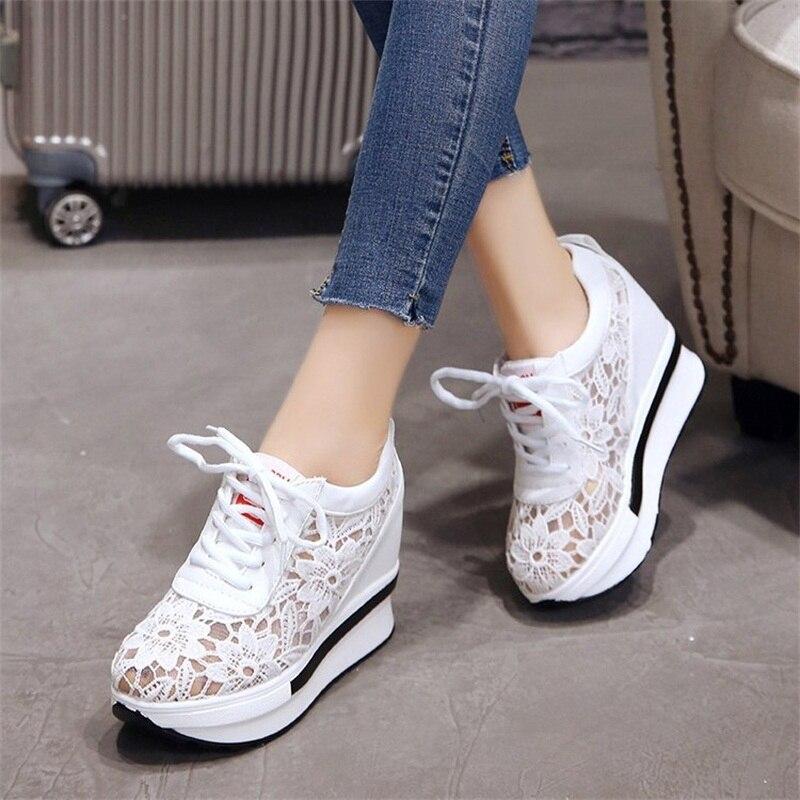 נשים של לגפר נעלי 2018 אביב סתיו אופנה נשי הנעלה חדש שרוכים לנשימה גבירותיי פלטפורמת נעלי YBT1011