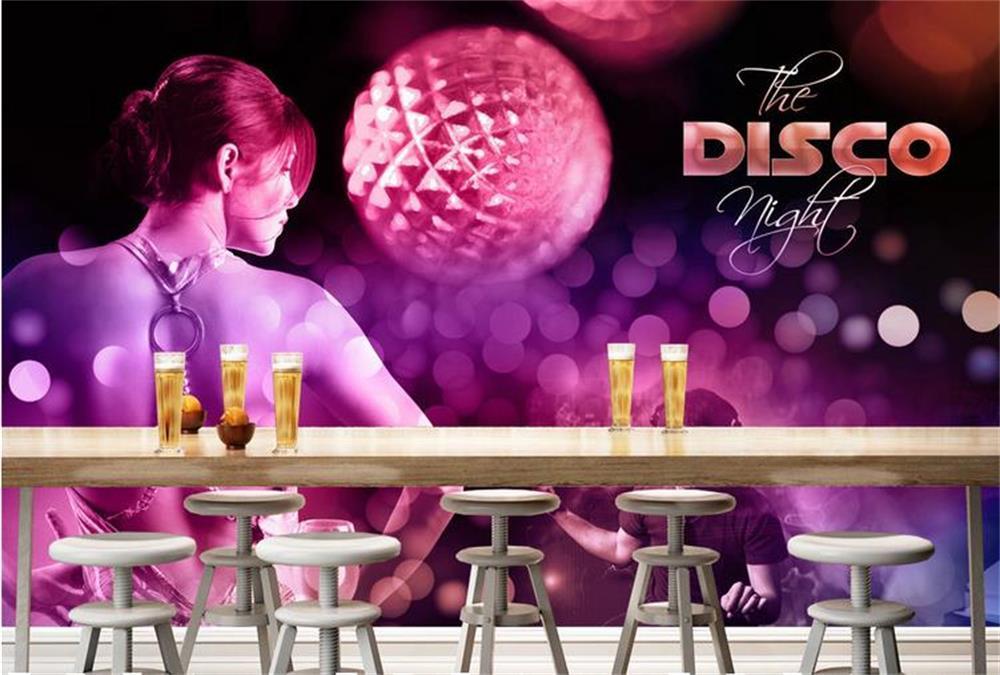 3D wallpaper/custom photo wall paper mural/The back sexy beauty girl bar/TV/sofa/Bedroom/KTV/Hotel/living room/Children room