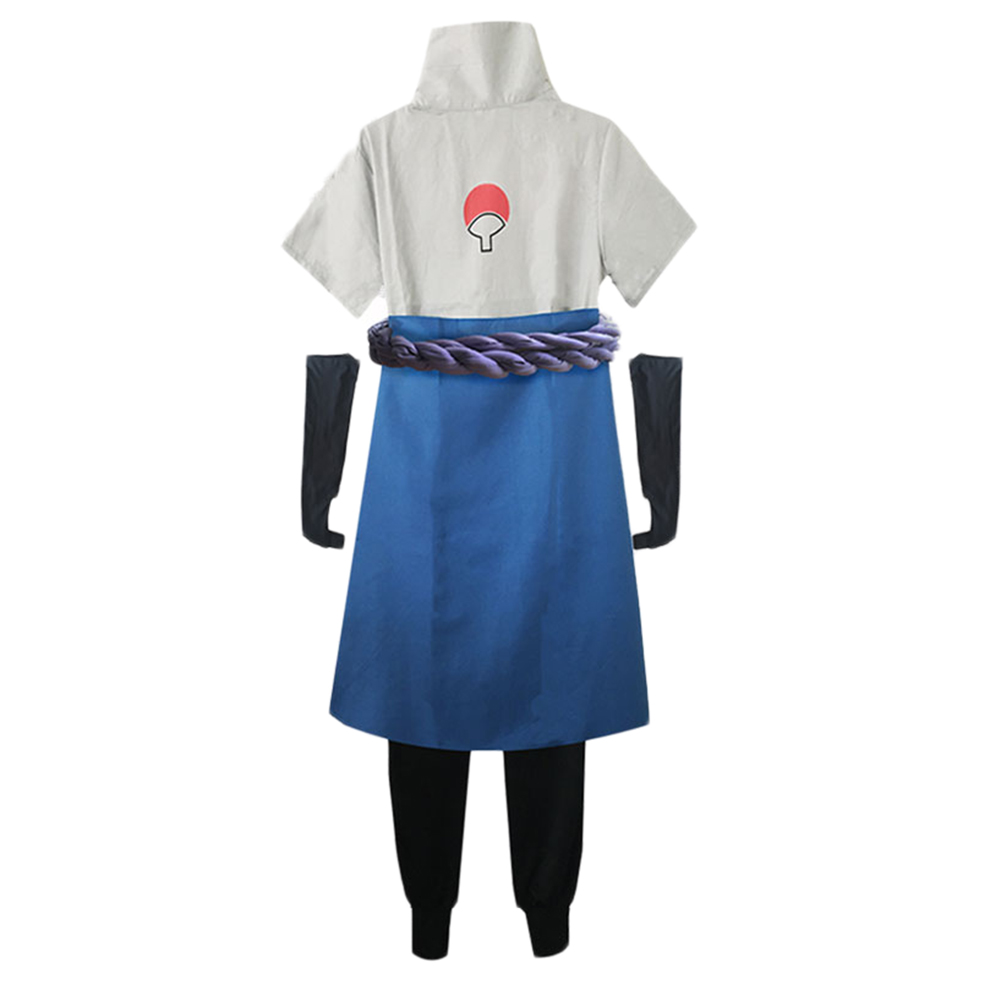 Brdwn Naruto Unisex Konoha Uchiha Sasuke 3rd 4th Generation Suit Cosplay Costume top pants apron Rope coversleeves in Anime Costumes from Novelty Special Use