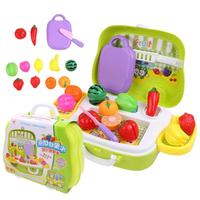 Cozinha Frutas Legumes Corte de Plástico do miúdo Brinquedo Desenvolvimento Precoce e Educação de Brinquedo para a Menina Pretend Play brinquedos para as crianças