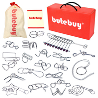 Rowsfire 20Pcs Metal Wire Puzzles Brain Teaser Classical Intellectual Toy Adults Children Educational Toys DIY Tools Set Hot