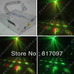 Sprzedaż hurtowa sprzedaż 6 wzorów światło laserowe Disco światła 6 Patrones Luz laserowe Sonido Iluminacion Matrimonio Salones fiesty Bombillas w Oświetlenie sceniczne od Lampy i oświetlenie na