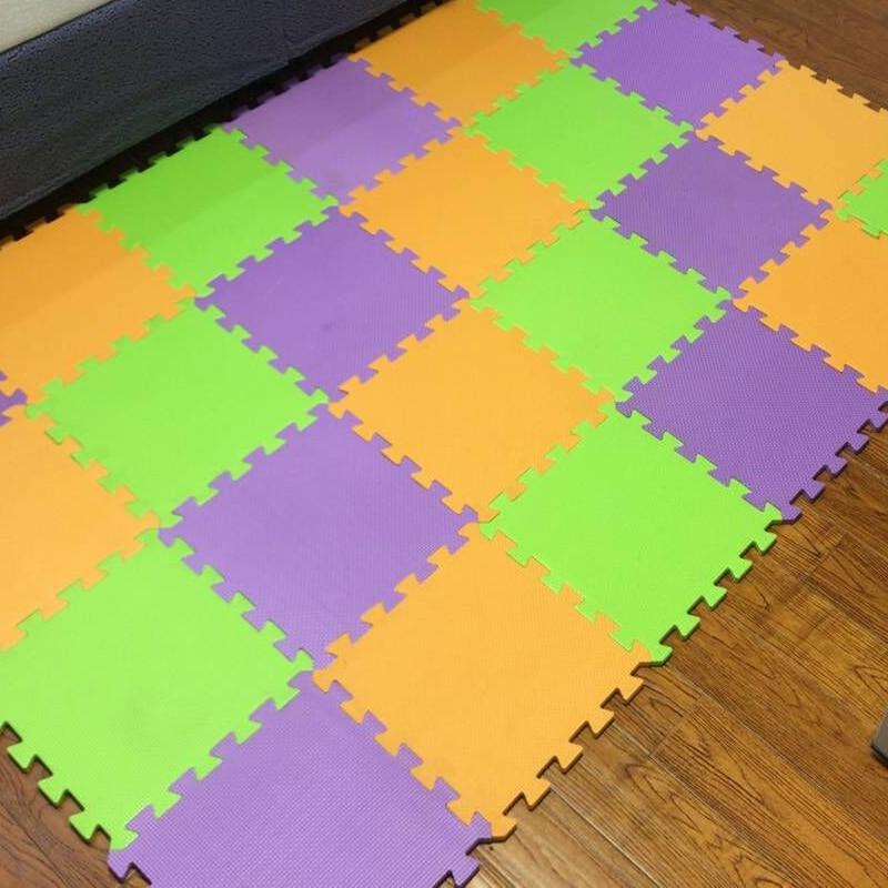 Meitoku bebé EVA Foam Juego Puzzle Mat / 9 unids / lote Ejercicio - Juguetes para niños - foto 3