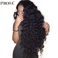 Loose Wave Silk Base Lace Front Human Hair Wigs Pre Plucked 250% Density Brazilian Frontal Wigs Natural Hair Prosa Remy