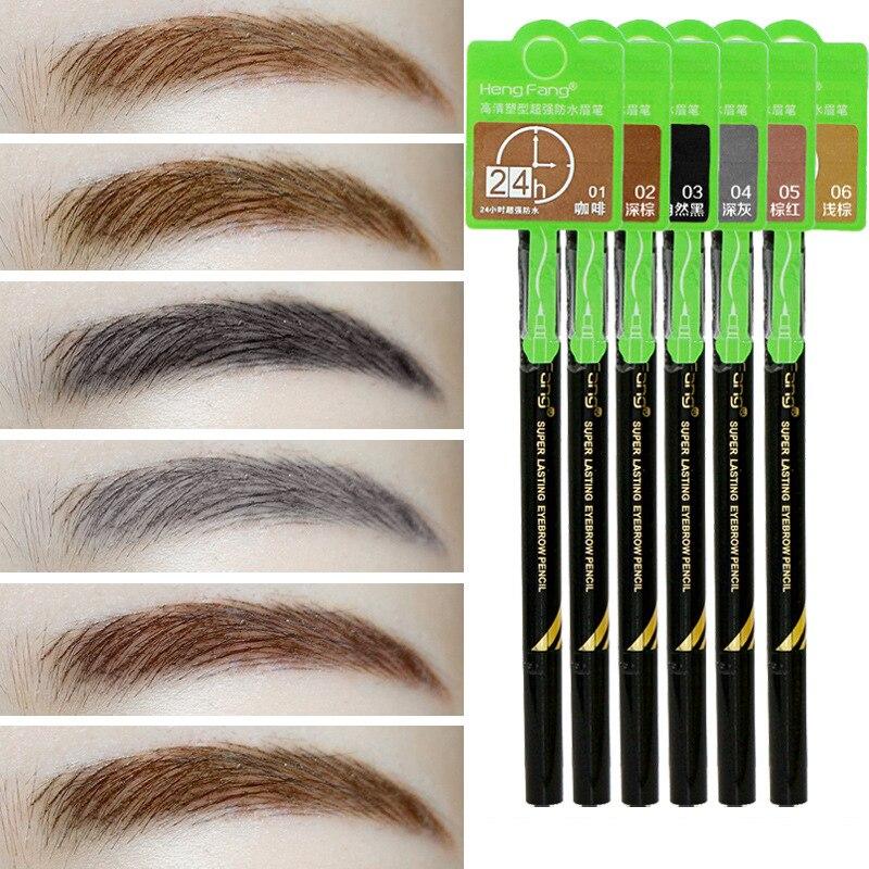 Brand Eyebrows Cosmetic 24h Waterproof Eyes Tattoo Liquid Brown Color Make Up Eyebrow Tint Pencil