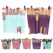 15 Unids Cepillos Sombra de Ojos Conjunto de Maquillaje Ceja Powder Foundation Brush Pincel Maquiagem Maquillaje Pinceles Brochas maquillaje