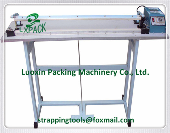 LX-PACK Foot Pedal HF (Hands Free) Sealers single sided double sided heat HF sealer always hot HF sealer lx pack lowest factory price 350mm foot sealer machine foot type constant heat sealer single sided sealing double sided sealing