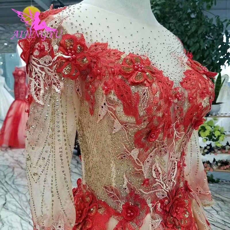 AIJINGYU luxe mariage grande taille robes de mariée Royal brillant court avant grosse taille Sexy en ligne Boho robe de mariée Sites