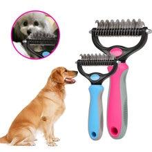 New Pet Fur Knot Cutter Remove Rake Grooming Shedding Brush Comb Rake Dog Cat Comb Rake Dog Cat dele q 003 dog comb pet brush rake metal blade