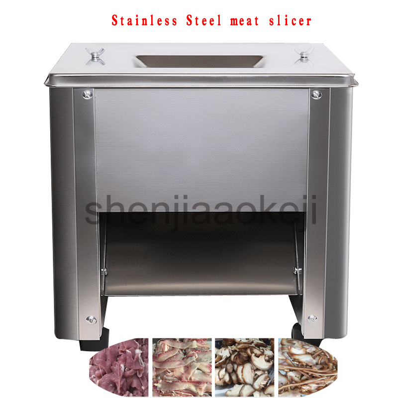 Stainless Steel meat slicer electric meat cutting machine 150kg/h home meat grinder vegetables meat slicing machine 220V 1pc stainless steel electric meat slicer meat slicing desktop type meat cutter meat cutting machine 110v 220v