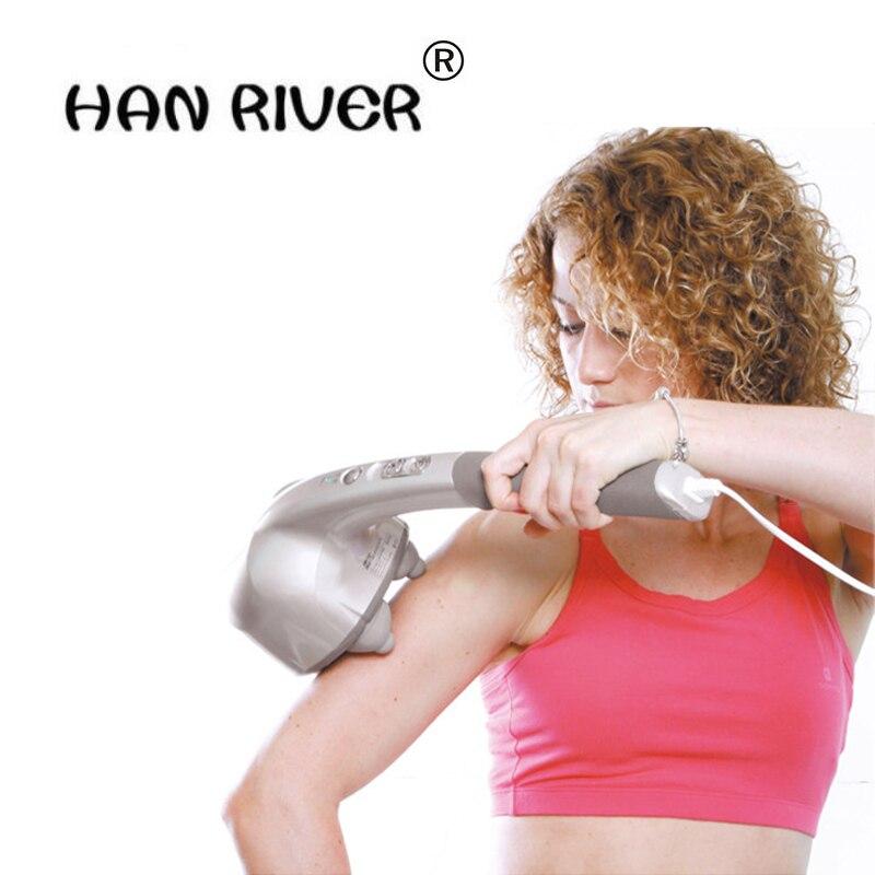 Electric 4 hands massager stick household vibrates vibrating hammer Multi function full body vibratory massage hammer
