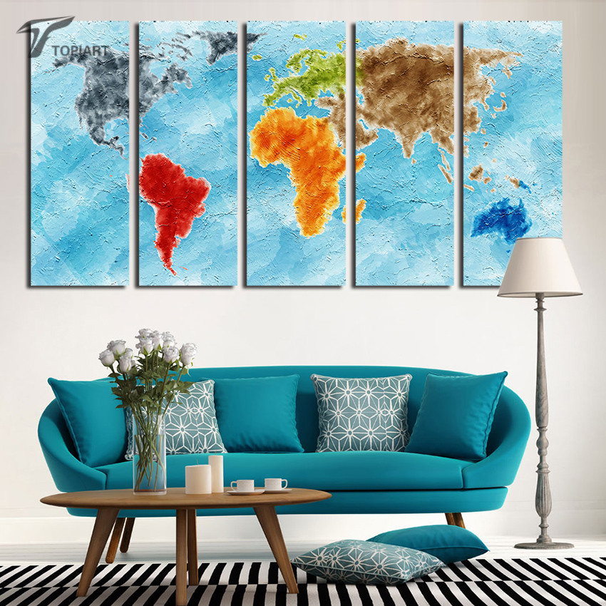 Aliexpress Com Buy Unframed 3 Panel Vintage World Map: Popular Ocean Paintings-Buy Cheap Ocean Paintings Lots