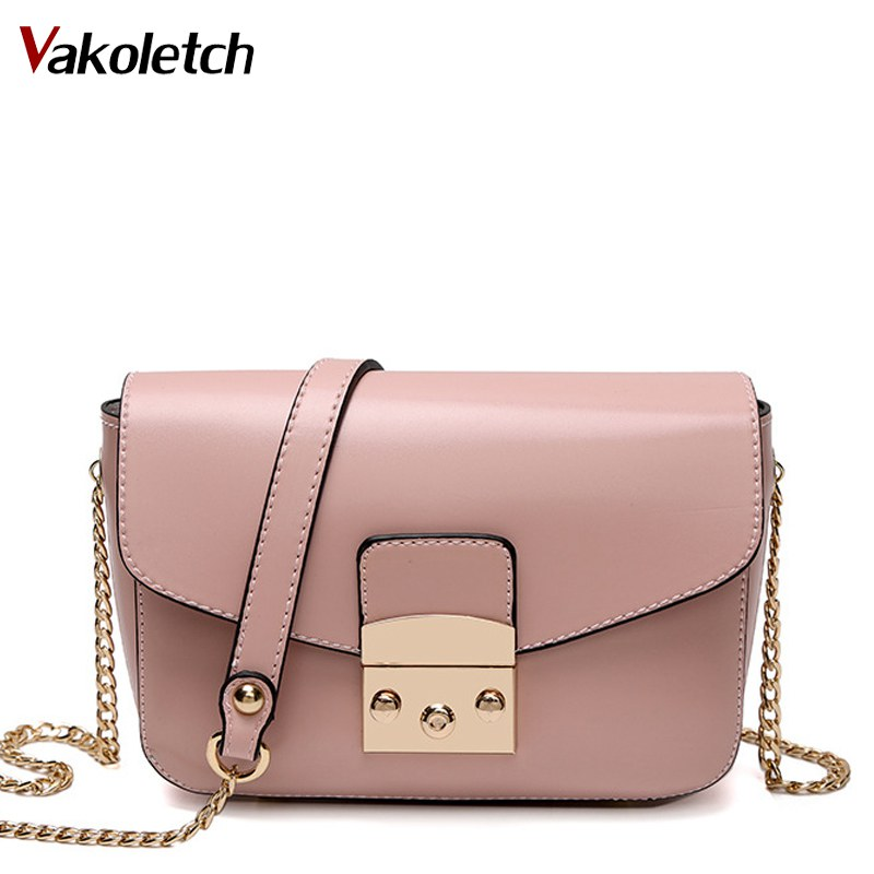 2018 new luxury design pink women messenger bags mini chain chain autumn crossbody shoulder bag lock ladies hand bag K92 lemon design chain bag
