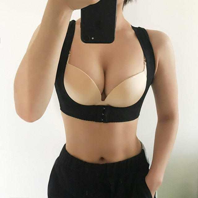 0465bfb208cd1 Tightening Breast Sport correction strap Chest supporting Anti Sagging  Gather braces chest strap push up bra sports fitness bra