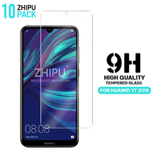 10 Pcs Tempered Glass For Huawei Y7 2019 Screen Protector 2.5D 9H Protective Film