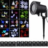12 Pattern Lens Replaceable Colorful LED Rotating Laser Projector Lamp Outdoor Garden Christmas Landscape Projection Led