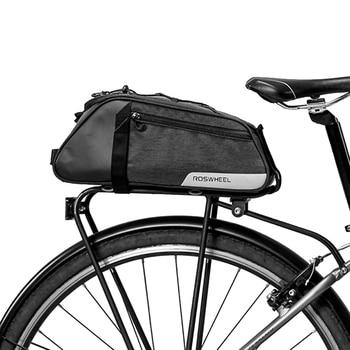bd4a1481434 LGFM-ROSWHEEL 141466 8L bicicleta de montaña bicicleta asiento trasero bolsa  de maletero