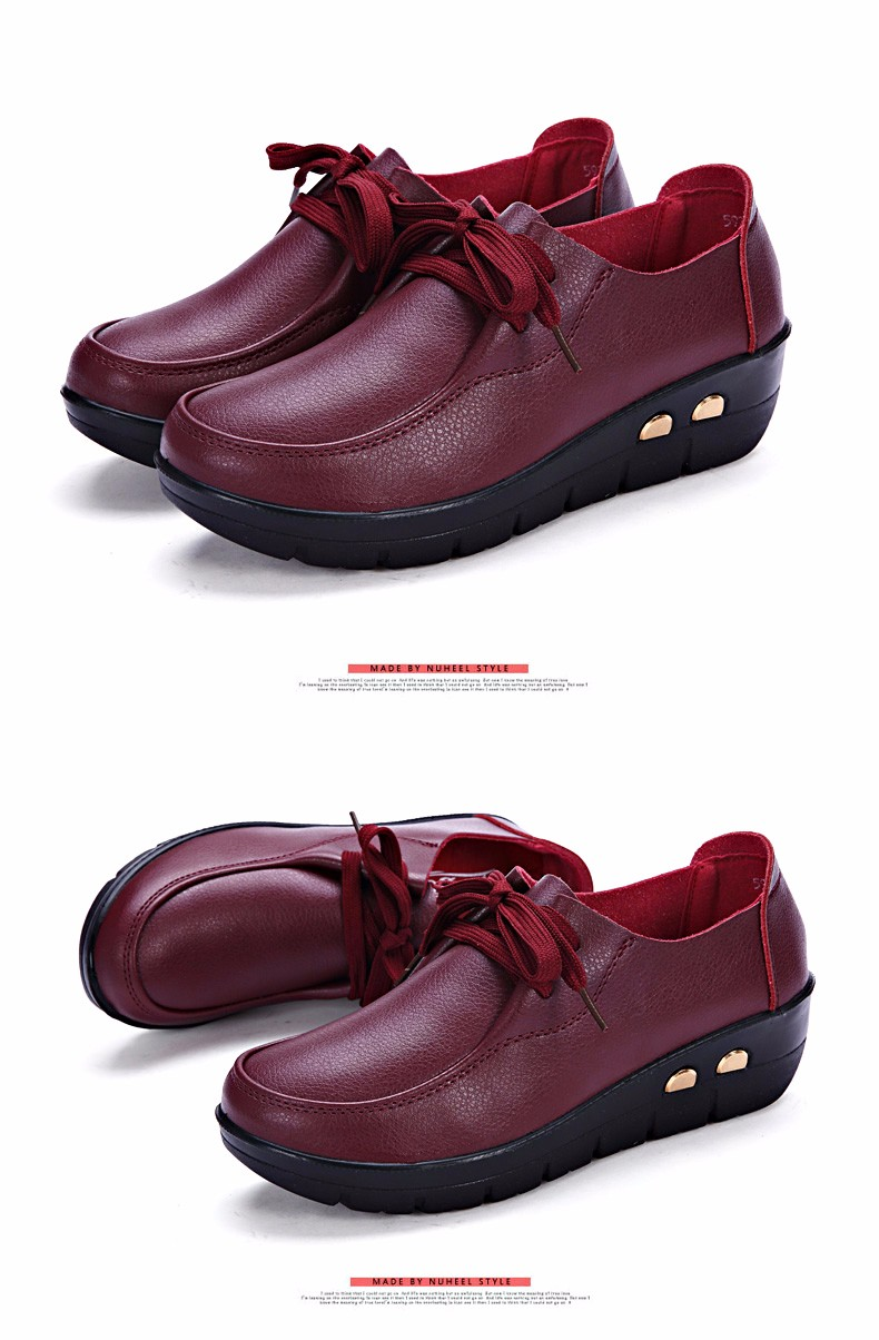 Women Oxfords Leather Shoes New Arrival Round Toe Lace Up Casual Women Flats Size 35-41 Flat Heels Platform Ladies Shoes NX27 (26)