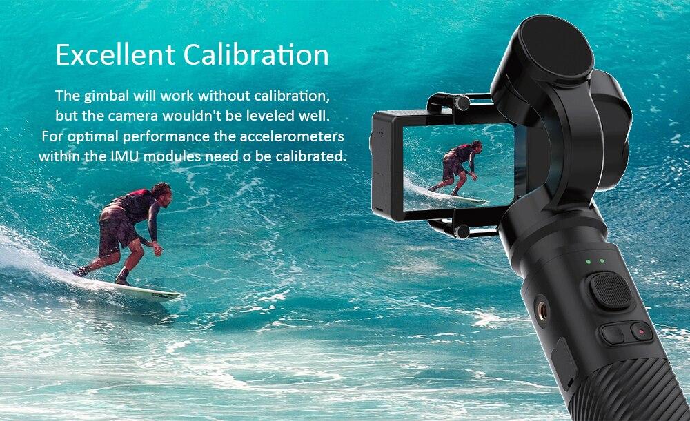 SJCAM De Poche CARDAN SJ-Cardan 2 3 Axe Stabilisateur Bluetooth Contrôle pour SJ6 SJ7 SJ8 Pro/Plus/ air Action Caméra pour Yi Caméra