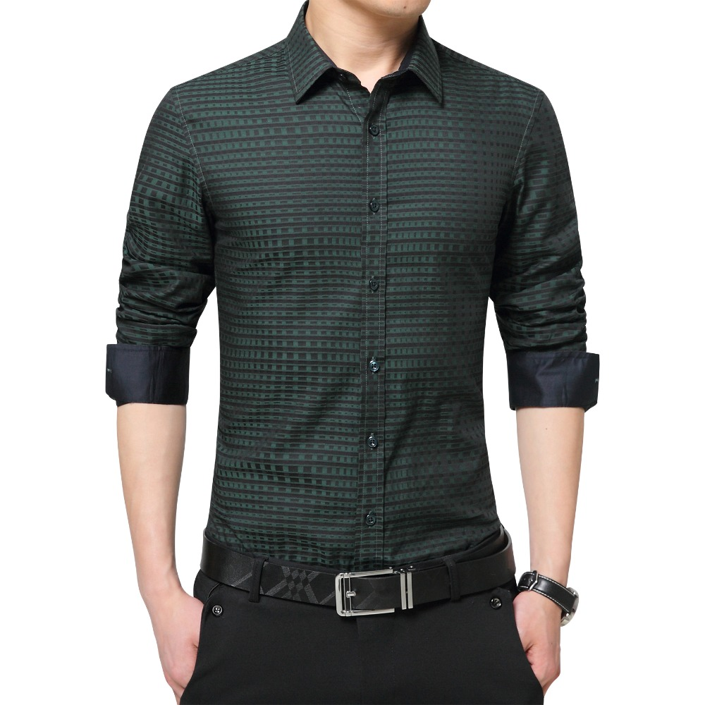 Famous brand mens shirts fashion 2016 spring autumn luxury for Expensive mens dress shirts brands
