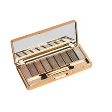 Fashion Eyeshadow  9 Colors Shimmer  Eyeshadow Palette Eye Shadow Palette & Makeup Cosmetic Brush Set 0906