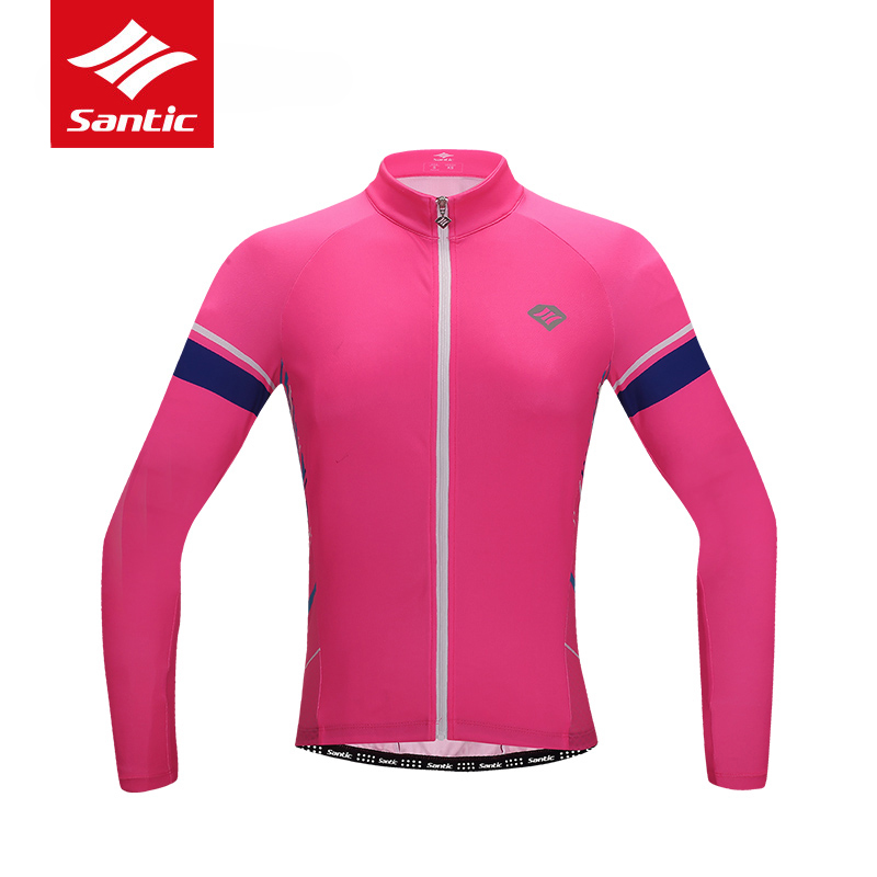 Santic Cycling Jersey 2019 Women Summer Long Sleeve MTB Road Bike Jersey Quick dry Breathable Bicycle