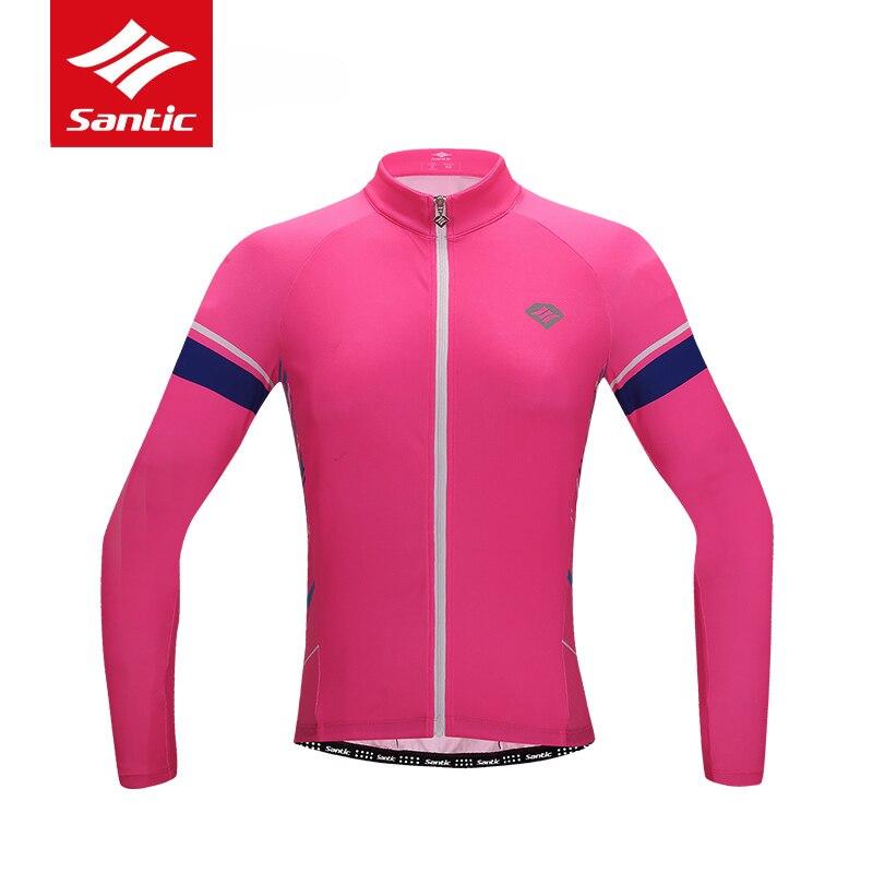 Maillot de cyclisme Santic 2019 femmes été à manches longues vtt vélo de route Maillot vélo respirant à séchage rapide Maillot Ciclismo