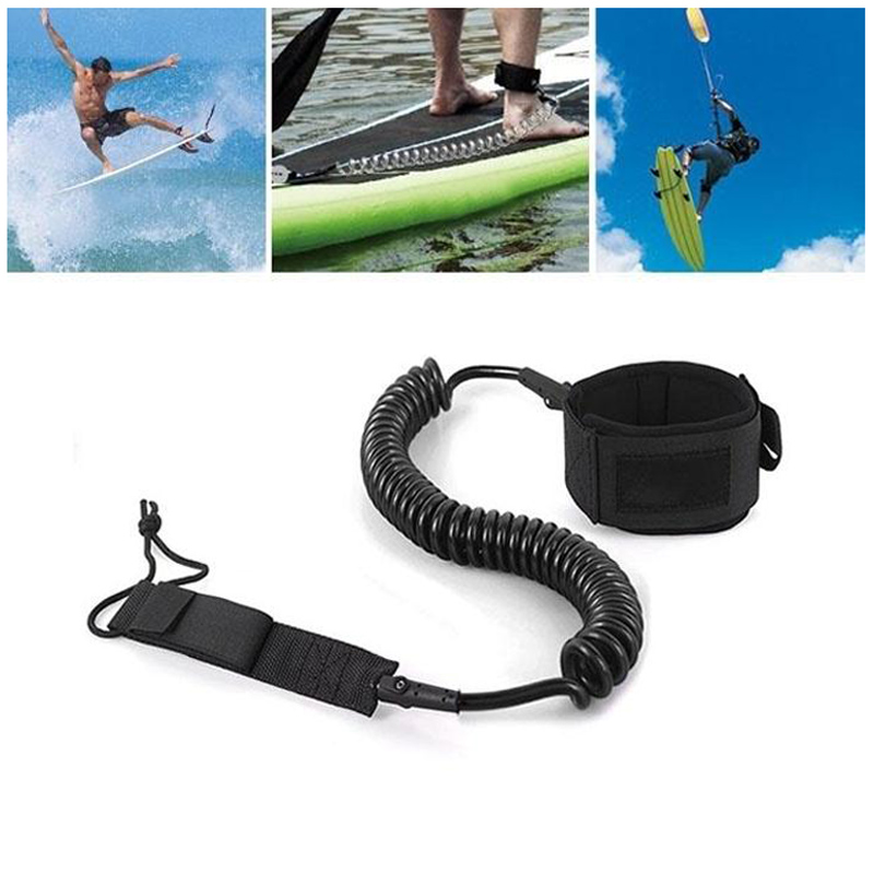 Surfboard Paddle Strap Surf Board Coiled Foot Long Surfing Bodyboard Adjustable Unisex Kit Leash Wrist Ankle Safety Swivel Leash