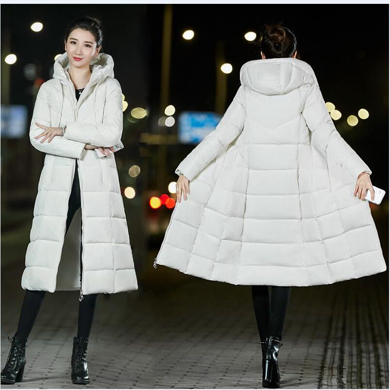 Brieuces Winter Jacket Women Thick Warm Female Cotton Coat   Parkas   Long jaqueta feminina Women Hooded Coat Plus Size XS-6XL