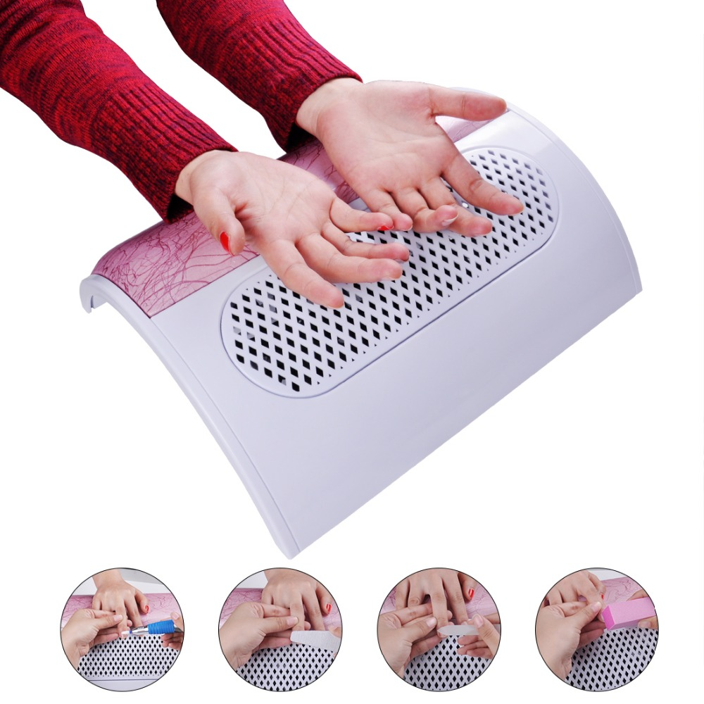 Biutee Nail Fan Nail Suction Dust Collector Machine Vacuum Cleaner With 3 Fans+3 Bags Acrylic UV Gel Machine Nail Dust Collector runner