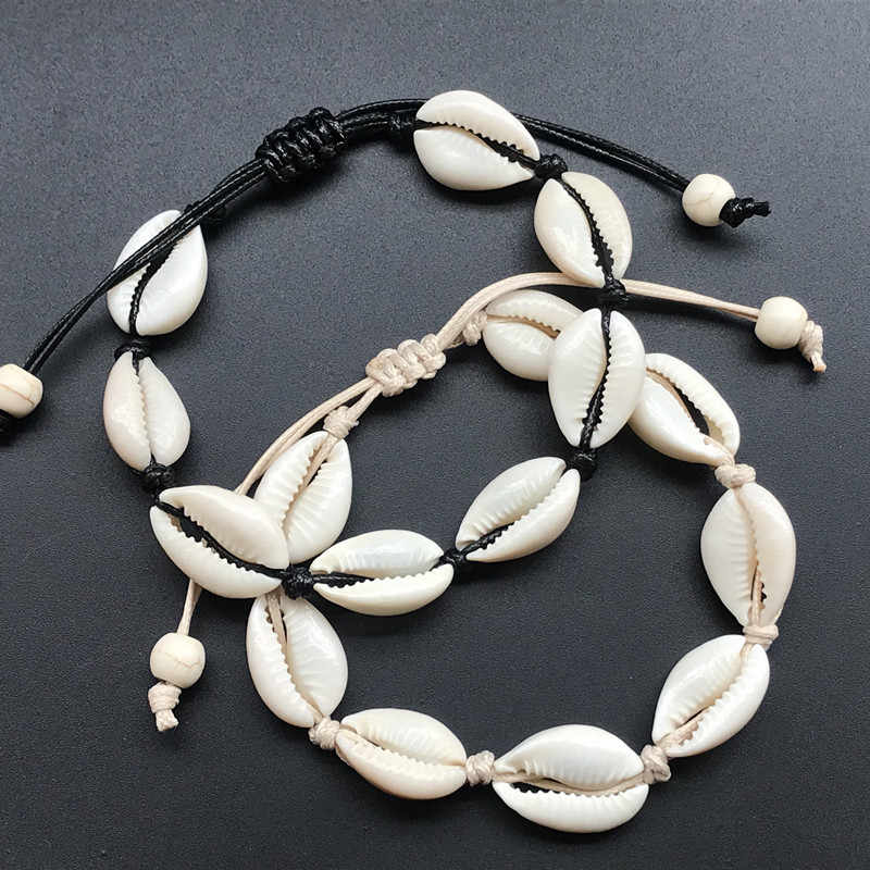 Gelang UNTUK WANITA Shell Kaki Perhiasan Musim Panas Pantai Bertelanjang Kaki Gelang Pergelangan Kaki Di Kaki Ankle Strap Bohemian Aksesoris Shell Gelang