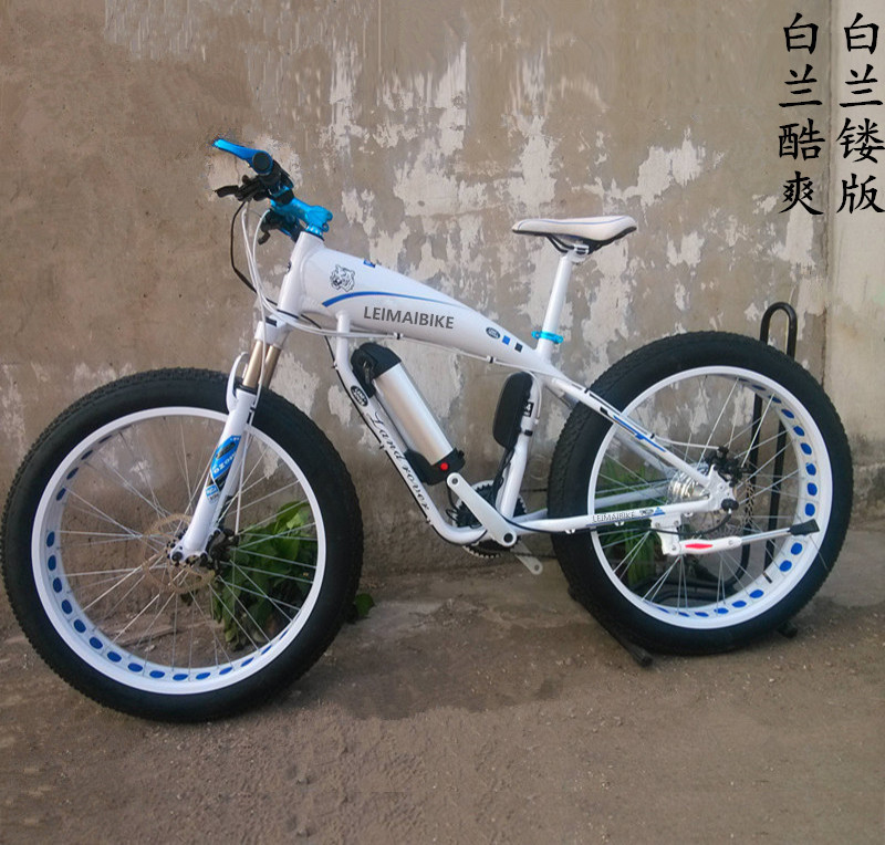 164adc7830e Kalosse aluminum alloy electric beach bicycle M4000 electric snow bike 10A  48V 350W 27 speed mountain bike-in Electric Bicycle from Sports &  Entertainment ...