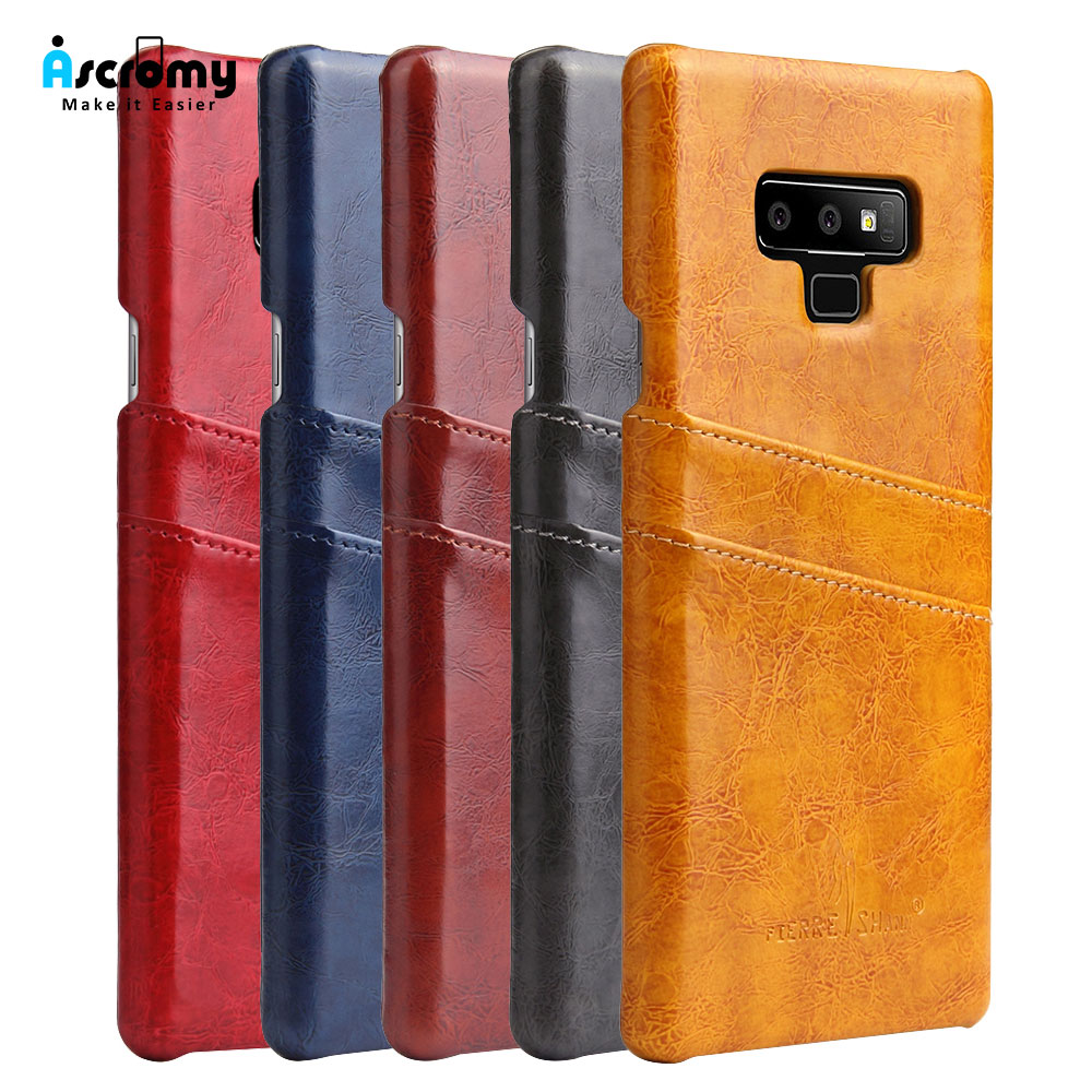 Ascromy For Galaxy Note 9 Case PU Leather Credit Card Holder Wallet Phone Case for Samsung Note 8 S9 Plus S8 S7 edge Accessories (26)