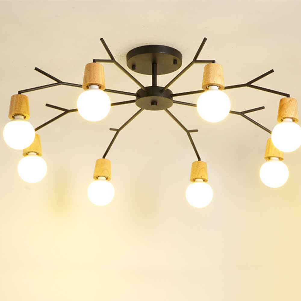 8 Heads Iron Chandeliers lamp body 40W simple and elegant design Support humanization for reading room children room living