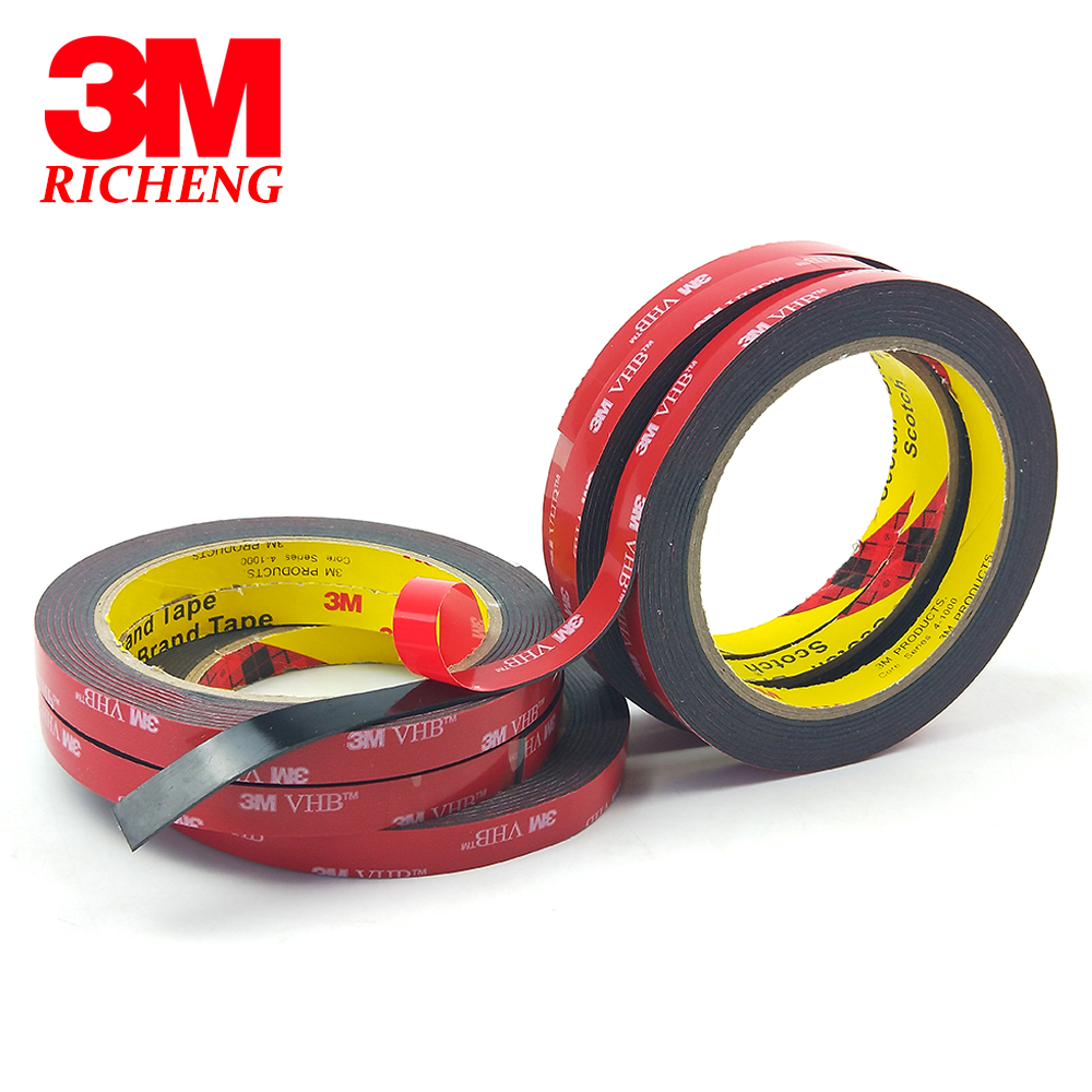 1 X10mm 3M Double Sided Sticky Car Boot Spoiler Adhesive Tape Vehicle Strip DIY