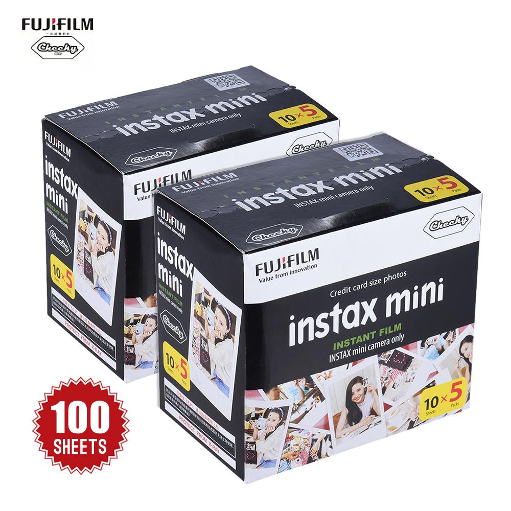 Prix pour Fujifilm 100 Feuilles Blanc Photo Papier Film Instantané Album Instant imprimer pour Fujifilm Instax Mini 7 s 8 25 90 De Noël cadeaux