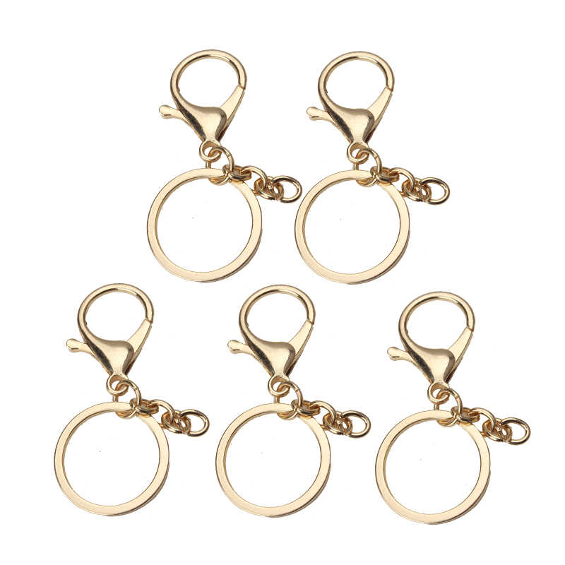 5 pçs/lote 65*30mm moda placa de ouro chaveiros chave anéis encantos pingente mulheres montagem diy pendurado chaveiro acessórios de jóias