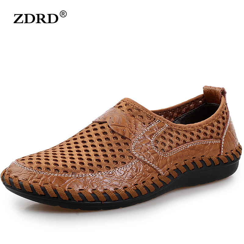 2016 NEW Brand Real Genuine Leather Casual Men's Shoes Matching Summer Flat Men  Size 38-44 TOP Quality Shoes Men Breathable girls dress baby dress girls flowers tutu kids dress for girls summer floral knee length dress for girls clothes 2016 c532q125
