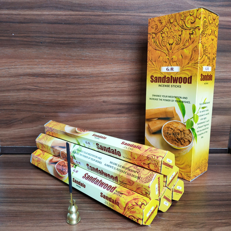 Natural Indian Sandalwood Stick Incense One Pack Handmade India Incense Sticks Aromatic Indoor Fragrance Home Living Room Decor