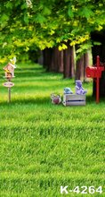 Thin Fabric Vinyl Background Photo Child/Couple Photography Background Tree Green Lawn 150cm * 200cm Photo Background Stand