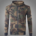 2016 Mens Camouflage Sweatshirts Hoodies Military Style Fashion Full Slim O-Neck Autumn Zipper Coat Sudaderas HombreL-XL W142