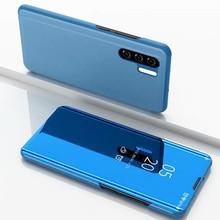 JONSNOW Smart Mirror Flip Case for Huawei P30 Pro P20 Pro P10 P9 Plus Leather Cover