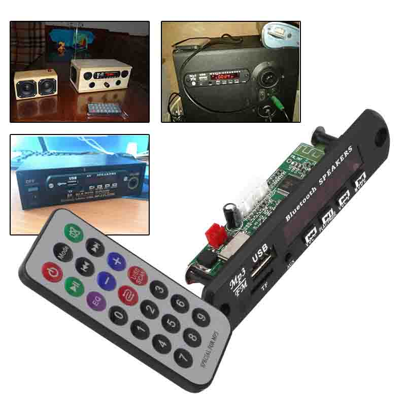 Bluetooth v3.0 + EDR Audio Module MP3 WMA Player MP3 decoder with Board Module w/ TF Card Slot / USB / FM / Remote Display motorcycle mutilmedia mp3 music player speakers audio fm radio security alarm wireless bluetooth remote with usb tf card slot